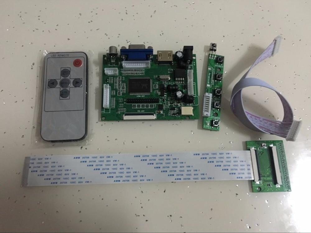 Latumab-placa controladora de pantalla LCD, Kit de controlador de Audio, HDMI, VGA, 2AV, 60 Pines, 800x480, para Panel HSD062IDW1 HSD080IDW1 HSD070IDW1