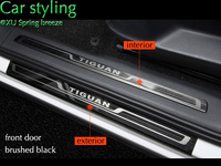 For 2016 2017 2018 VW Tiguan MK2 Europe Version Car Scuff Plate Door Sill Trim Welcome