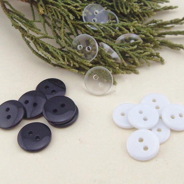 500pcs 12.5/10mm plastic buttons for garment fully transparent maternity underwear pad buckle flat bread button