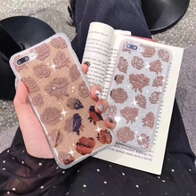 Tfshining Shockproof Glitter Bling Case For iphone X XR XS Max Rose Flowers 7 8 Plus 6 6s Cover Coque Gifts