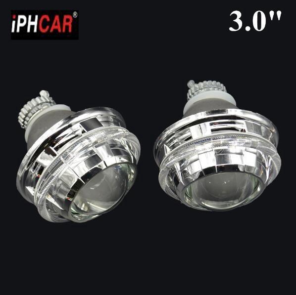 2pcs 3 0 inch H4Q5 Bi xenon Bixenon hid Projector lens metal holder D1S D2S D2H
