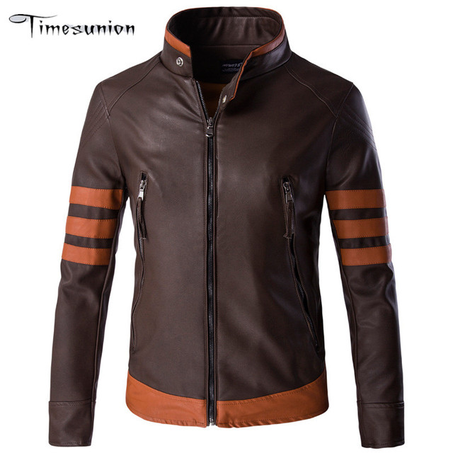 New Fashion PU Leather Jacket Men Black Coffee Solid Mens Faux Fur Coats Trend Slim Fit Youth Motorcycle  Jacket Men 3XL 4XL 5XL