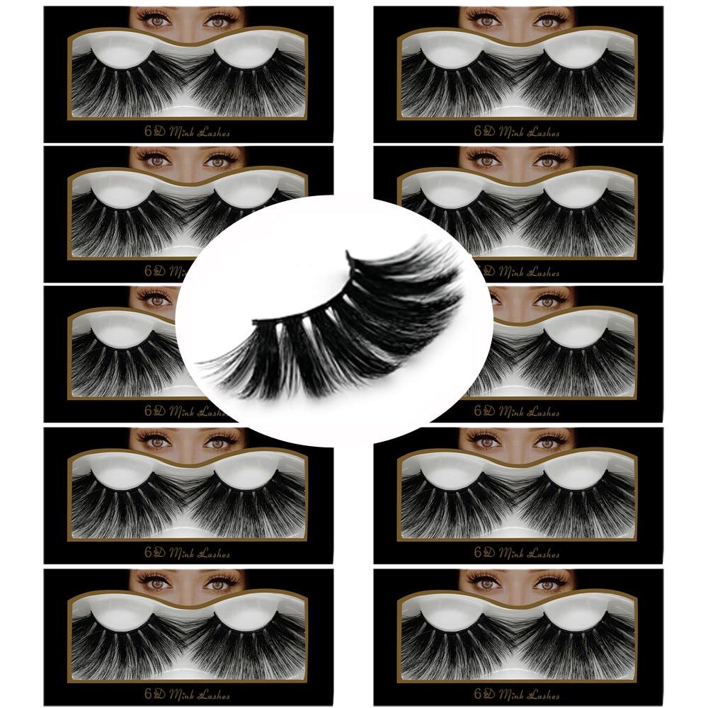 a61d2213cc0 10Pairs/lot 3D Mink Hair False Eyelashes 25mm Lashes Thick Long Wispy  Fluffy Handmade Cruelty-free Mink Eyelash Makeup Tools