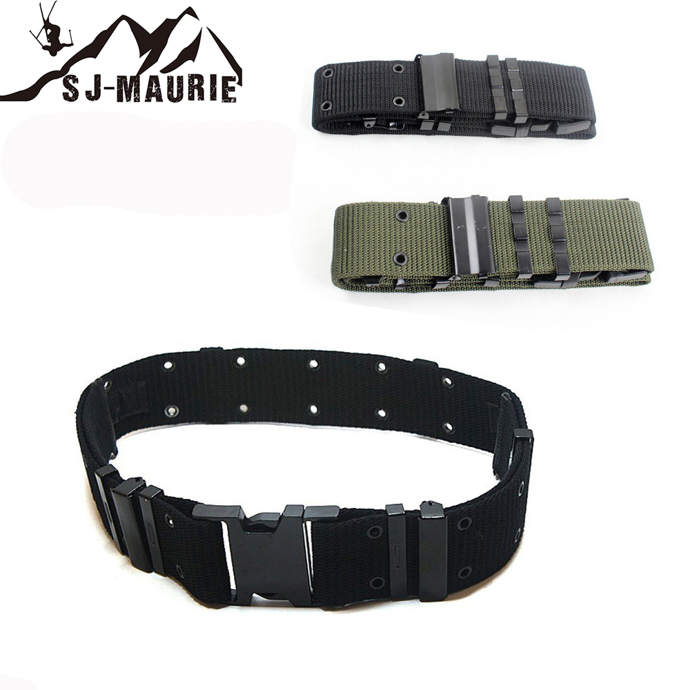 Sportswear Tactical Woven Belt Hunting Training Military Buckle Outer Airsoft Spring Waist Seal Hunting Gear Battle Belt 3Colors belt