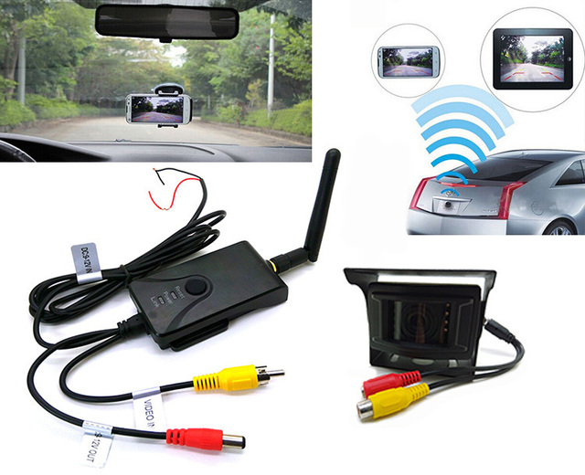 US $56 9 |Wireless wifi Car Backup Camera Realtime Video Transmitter for  Car support IPhone, IPad, Android system with Wide angle Camera-in Vehicle