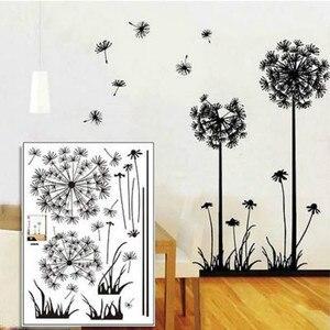 Image 4 - Sıcak siyah karahindiba oturma odası yatak odası duvar çıkartmaları ev süsleme duvar çıkartmaları duvar