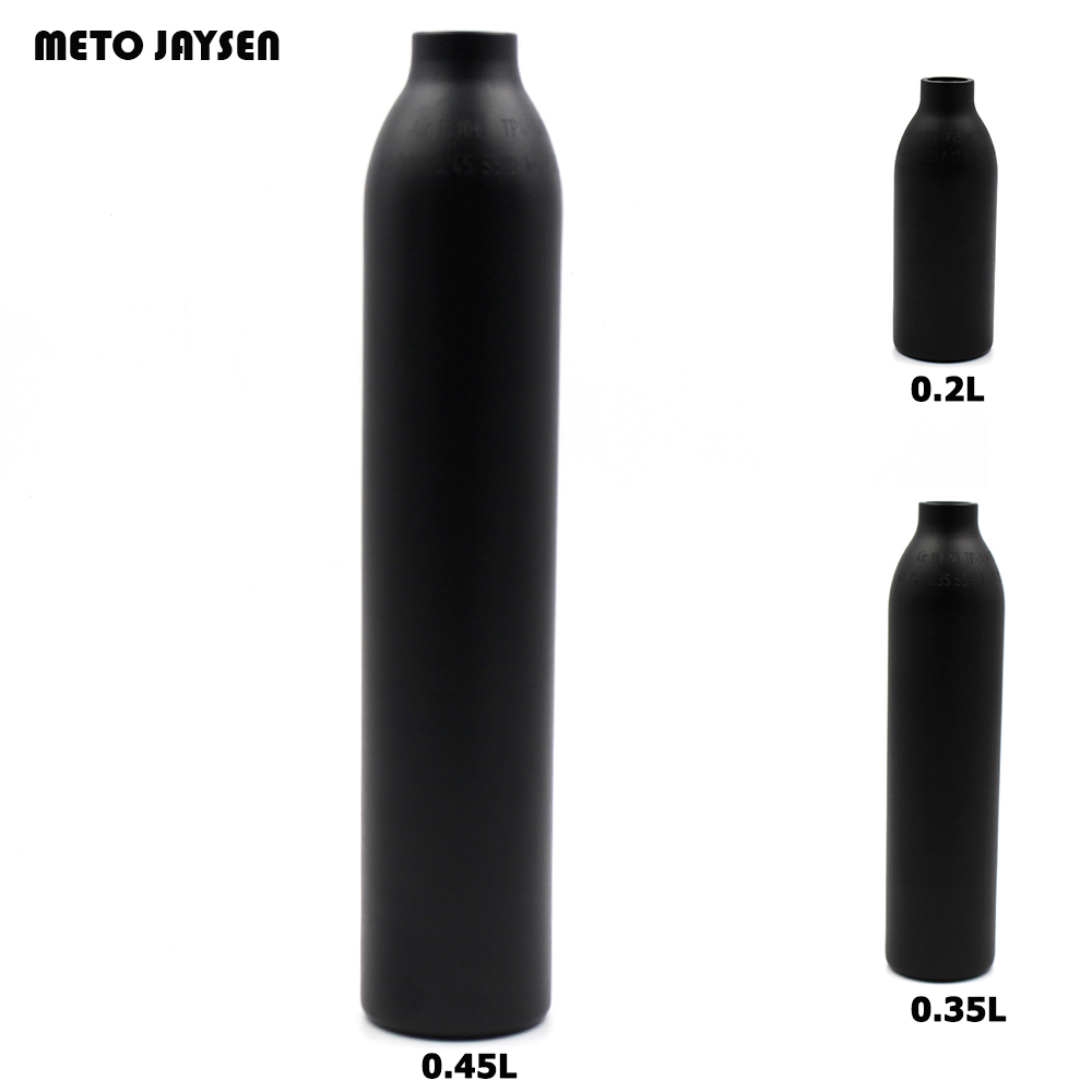 PCP Paintball Airforce HPA Cylinder Air Bottle 0.2L/0.35L/0.45L Tank 300bar 4500psi  M18*1.5 Thread 6061 aluminum alloy TAK001 60g co2 tank cylinder empty paintball co2 tank