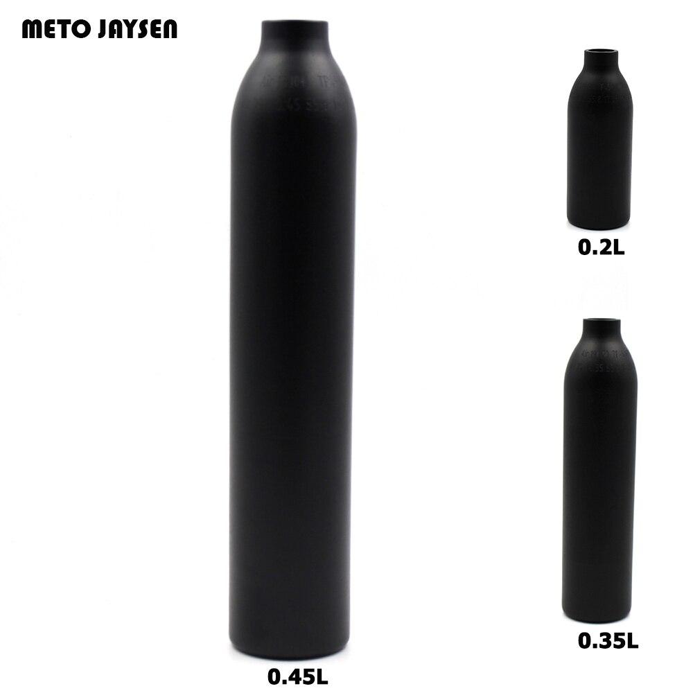 PCP Paintball Airforce HPA Zylinder Air Flasche 0,2L/L/0.45L Tank 300bar 4500psi M18 * 1,5 Gewinde 6061 aluminiumlegierung TAK001