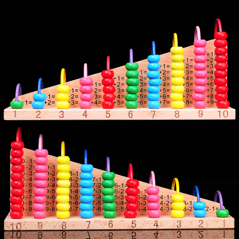 Child early learning toy 10 font b calculation b font frame elementary student abacus frame plate