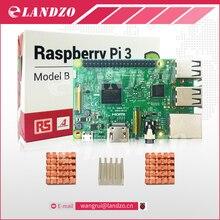 Raspberry Pi 3 модели B 1 г 64-бит четырехъядерный процессор ARM Wi-Fi и Bluetooth + процессора алюминиевый радиатор для Raspberry Pi 3 Бесплатная доставка