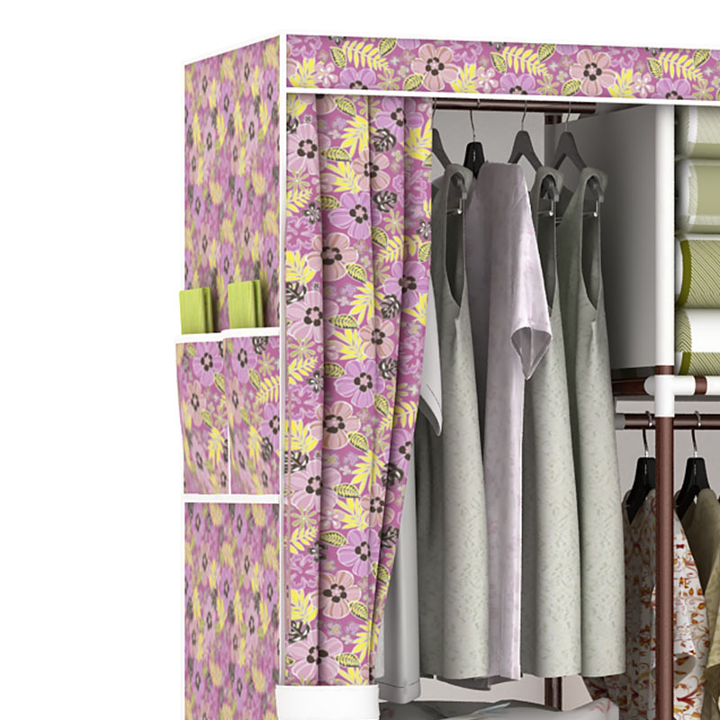 COSTWAY Bedroom Non Woven Wardrobes Cloth Storage Saving Space Locker  Closet Sundries Dustproof Storage Cabinet W0101 In Wardrobes From Furniture  On ...