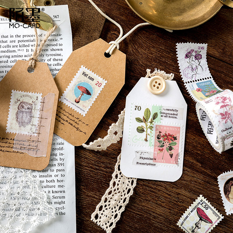 Us 1 58 20 Off Vintage Post Office Series Bullet Journal Washi Tape Retro Stamps Coffee Decorative Adhesive Tape Diy Scrapbooking Sticker Label In