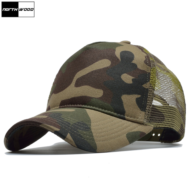 NORTHWOOD  Camouflage Mesh Baseball Cap Men Hunting Camo Men Army Cap  Brand Women Snapback Baseball Caps Mesh Trucker Cap 1e4da7eccab