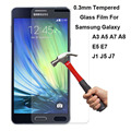 New Explosion Proof Premium Tempered Glass Film Screen Protector Guard Case Cover For Samsung Galaxy A3 A5 A7 A8 E5 E7 J1 J5 J7