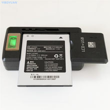 3.7 V 2000 mAh LI37200C Pour Hisense EG971 U971 U966 HS-U970 T970 EG970 T968 E968 Batterie + YIBOYUAN SS-8 LCD Chargeur Universel(China)