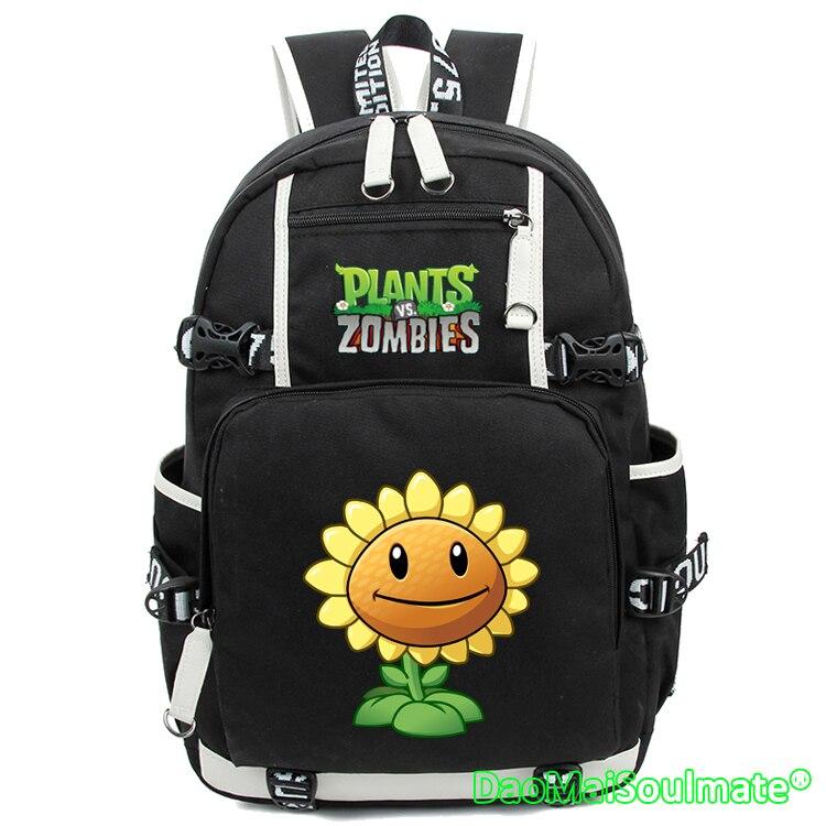 Game Plants Vs Zombies Anime Backpack Boys Sun Pumpkin Flower Cartoon Backpacks Rucksack Schoolbag Laptop School Shoulder Bag