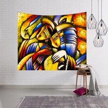 купить Digital Print Tapestries Wall Blankets Beach Towels Graffiti Series Fabric Wall Hanging Tapestry Decor Polyester дешево