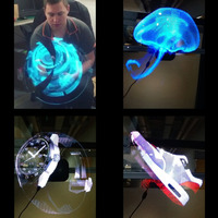 2 цвета 3D голографический проектор логотип проектор Портативный голограмма плеер 3D голографическая экрана вентилятор уникальный голый