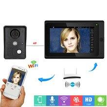 YobangSecurity 7 Inch Monitor Wifi Wireless Video Door Phone Doorbell Video Door Entry Camera Intercom System Android IOS APP