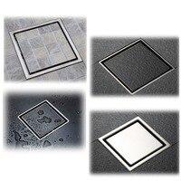 Anti Odor Bathtub Shower Drainer Floor Strainer 10x10cm 304 Stainless Steel Square Invisible Bathroom Floor Drain