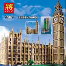 LELE Street View Series London Big Ben Model Building Blocks Bricks Creator Boys Toys for Children Compatible with Legoe 4164pcs