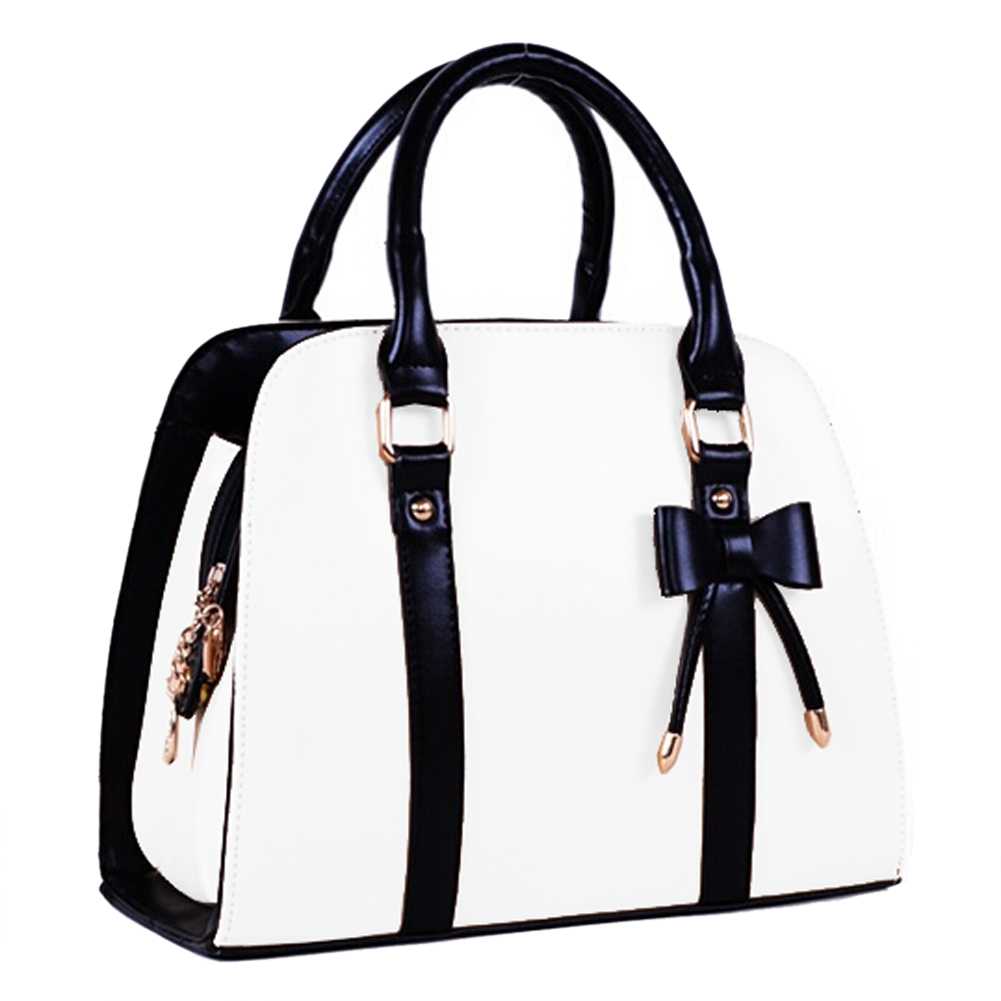 5) TEXU Women Handbag Black Bow Bag PU Leather Shoulder Bowknot Bag for Female Candy Color Bags Women Tote Bag Clutch zea snb oo1 concise butterfly pattern pu handbag shoulder bag for women black