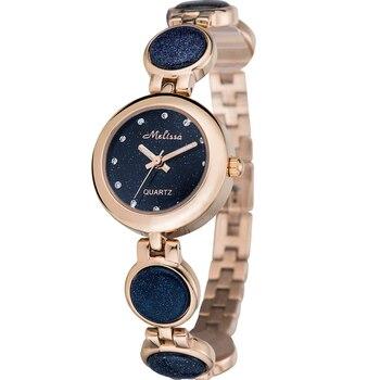 Suíça Melissa das Mulheres relógios de quartzo Pulseira Relógios Senhoras Relógios de Moda à prova d' água de Cristal Swarovski de luxo Relogio feminino