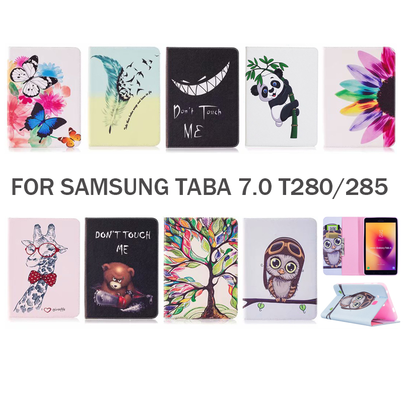 Tablet Case For Samsung Galaxy Tab A 7.0 T280 T285 Case Flip Stand Case for Samsung Galaxy Tab A 7.0 2016 Cover SM-T280 SM-T285 pu leather case for samsung galaxy tab a a6 7 0 t280 t285 sm t280 sm t285 covers case tablet business flip stand shell funda