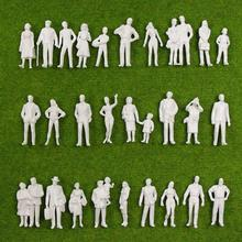 90pcs 1:43 White Standing Figures Unpainted O Scale People Passengers for Model Train Miniature Scenery Layout