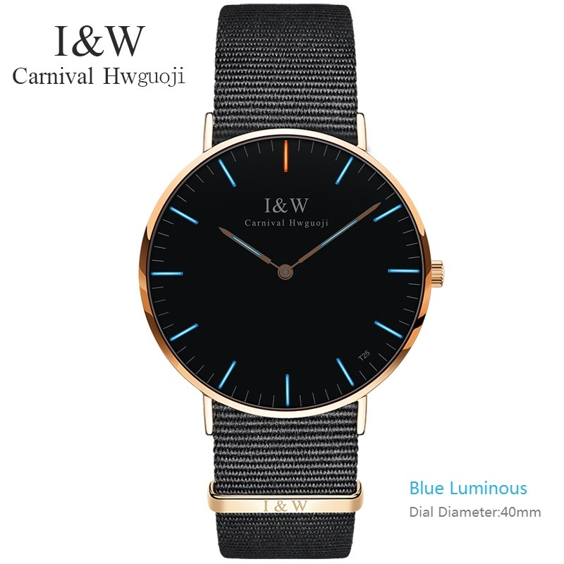 2017 New Super Slim Watch Top Brand Carnival Quartz Wristwatches Tritium Luminous Watches Men Watches Waterproof full steel new brand women s genuine watches high grade swiss lady s watch waterproof fashionable steel band quartz wristwatches