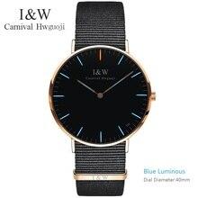 Оригинальный карнавальный модные трития световой часы лучший бренд класса люкс часы кварцевые пару Водонепроницаемый кожаный ремешок horloges mannen