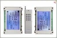 12 V 10A 12Ch relé Programável sem fio RF Interruptor de Controle Remoto Transmissor + 2 pcs Receptores Receptor Relé Módulo/casa inteligente