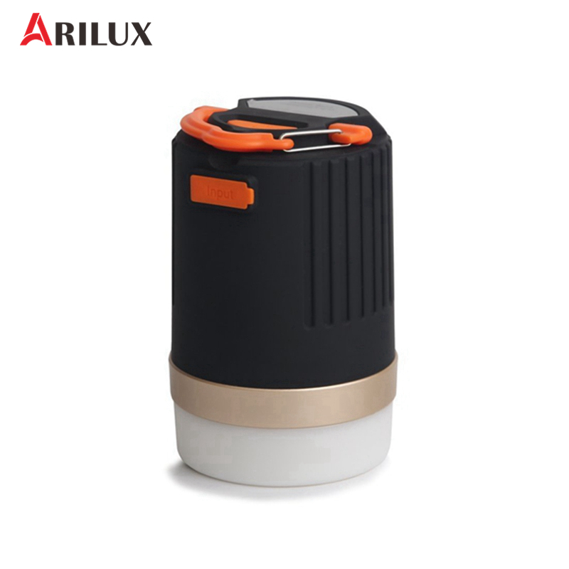 ARILUX Portable Outdoor Camping Lantern Multifunction USB Rechargeable LED Light With 10400mAh Power Bank For Phone Charging original romoss sense4 dual usb 10400mah power bank