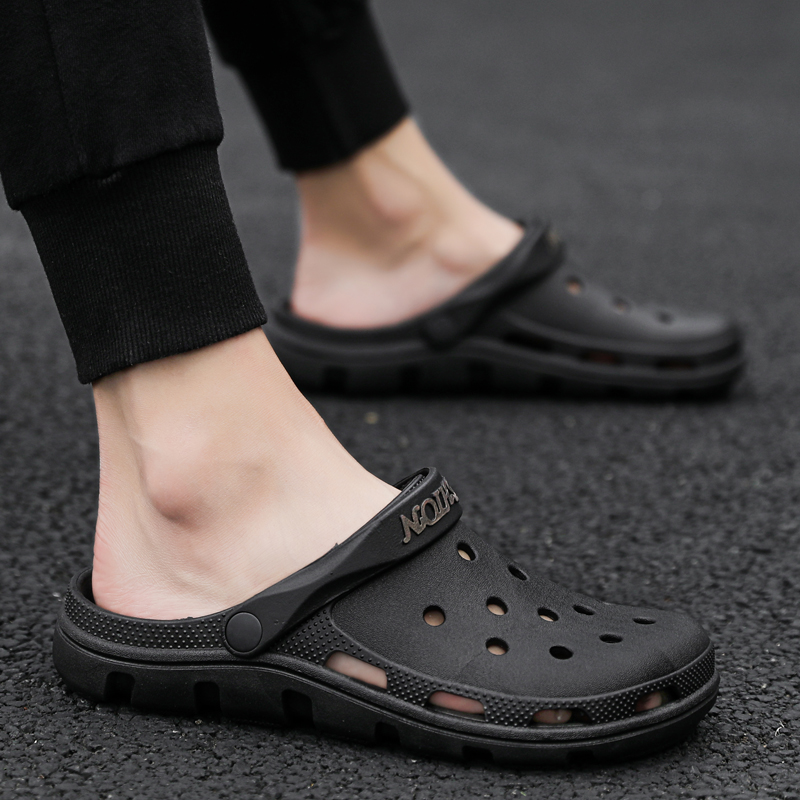 Mens Sandals Summer Male Comfortable Light Shoes Indoor Hole Shoes Slippers High Quality White Casual Shoes Zapatos De Hombre(China)