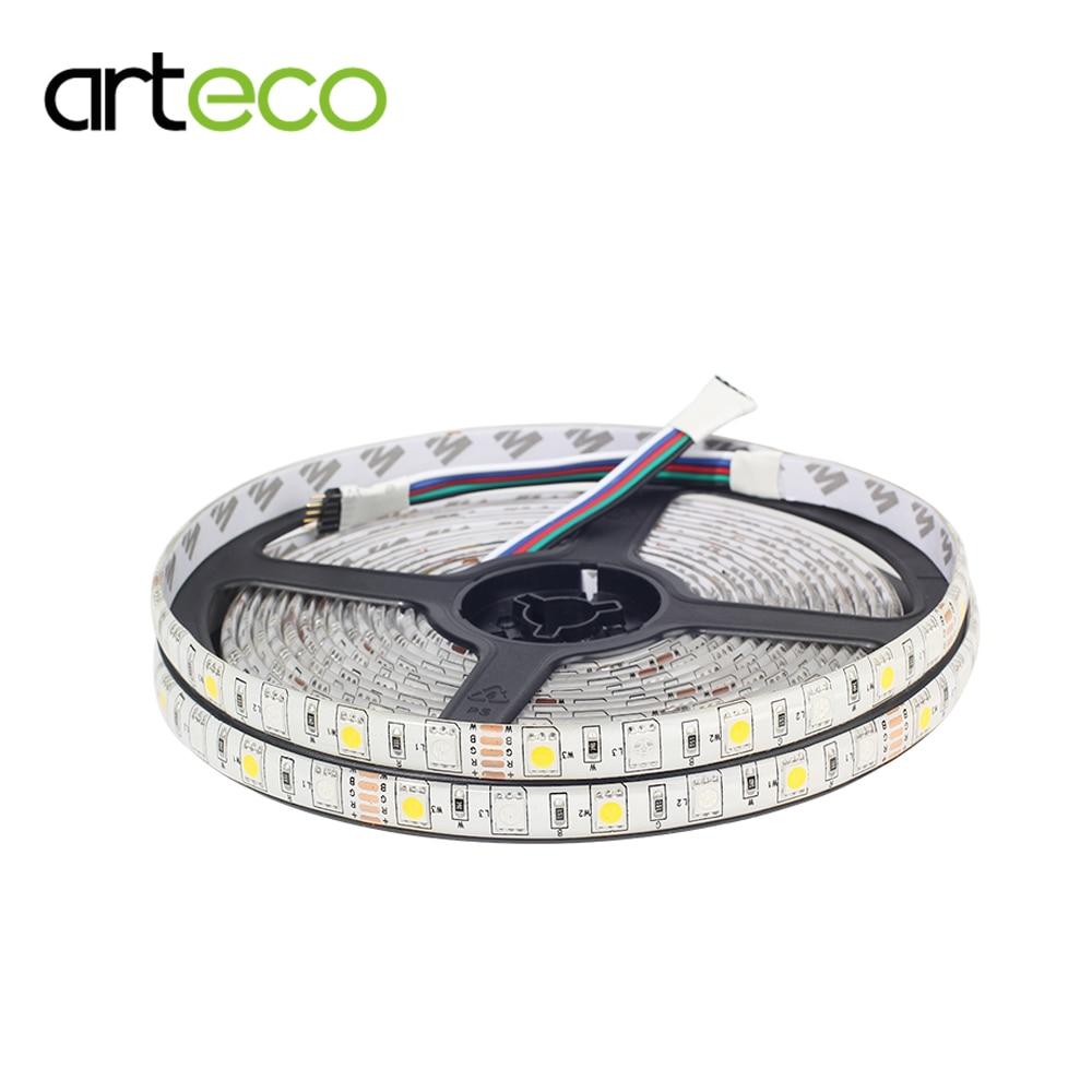DC12V 5050 RGBW LED Strip Lights 60LEDs/m 5M IP65 Waterproof Flexible Strip Tape 5PIN LED Strip 5050 RGBW / RGBWW