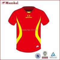 Fußball Jersey Machen in China Freies Verschiffen Sublimation Printing Football Jersey Fußballabnutzung