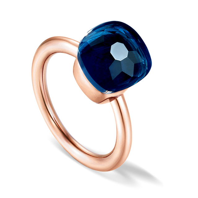 brixini.com - 14K Rose Gold Color Topaz Ring