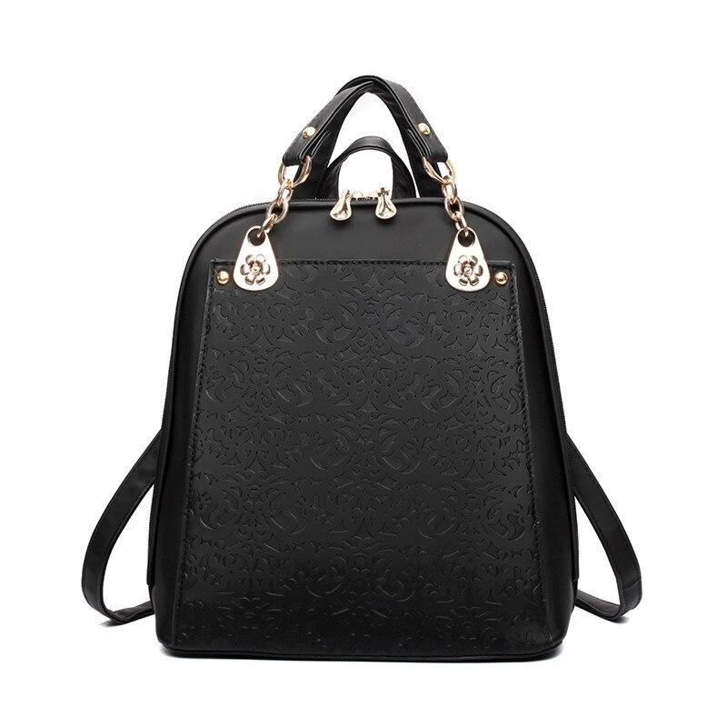 2017 new Women PU Leather School Bag Pack For Teenager Girls Female Shoulder Designer Bookbag