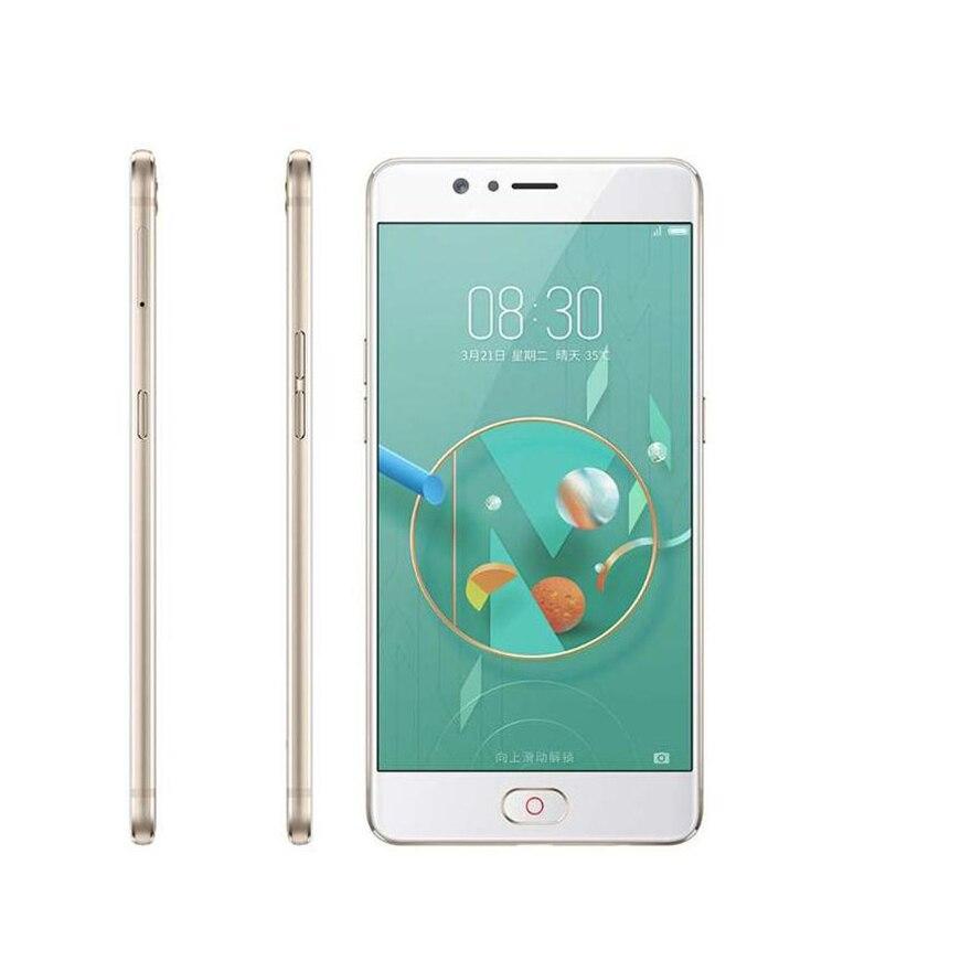 Nouveau téléphone portable d'origine ZTE Nubia M2 Lite MT6750 Octa Core 5.5 pouces 13.0MP 3000 mAh Android identification d'empreintes digitales 4G LTE Smartphone