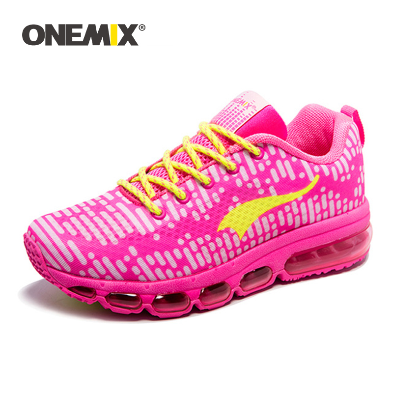 Onemix Original Design Women Running Shoes Female Cushion Sneakers Bright Colorful Non slip Breathable Comfortable Walking