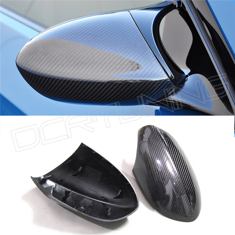 ФОТО For BMW E90 E92 E93 M3 Carbon E82 1M 2008 - 2013 Carbon Fiber Rear View Mirror Cover 1 : 1 Replacement & Add on style mirror