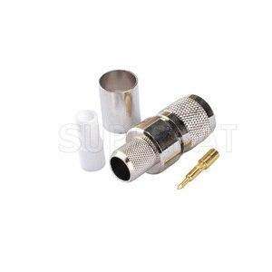 Image 3 - Conector coaxial masculino do rf da tomada do friso de superbat 10 pces tnc para o cabo coaxial rg8 rg213, rg214, lmr400