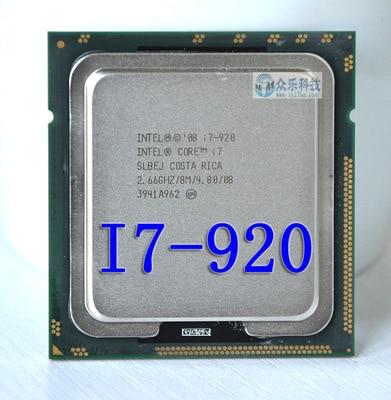 INTEL  CORE I7-920 I7 920 SLBCH/SLBEJ 2.66 GHz Quad-Core I7  Processor Socket LGA1366  CPU Warranty 1 Year
