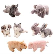 WYZHY Cute simulation plush toy rabbit pig   like ornaments model animal to send girlfriend Valentine's Day birthday gift 30CM