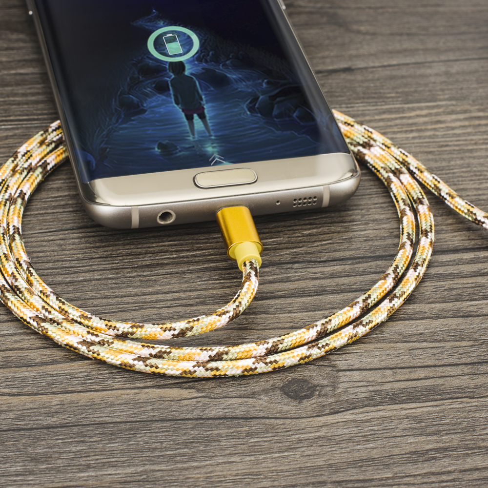 Image 5 - KEYSION Micro USB Cable 2.4A Nylon Fast Charge USB Data Cable for Samsung Xiaomi Tablet Android Mobile Phone USB Charging Cord-in Mobile Phone Cables from Cellphones & Telecommunications