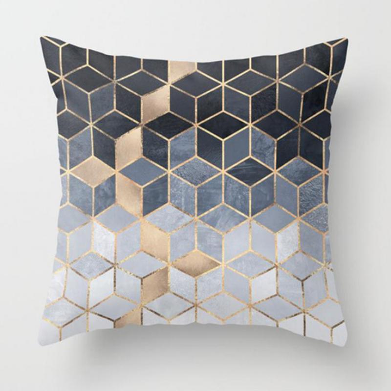 Chair Cushion Cover Geometric Pattern Diamond Shape Soft