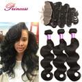 13x4 Ear To Ear Lace Frontal Closure With Bundles Peerless Virgin Hair Peruvian Body Wave Human Hair Weave 3Bundles With Closure