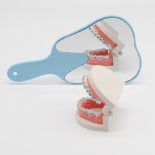 1 Pcs Cute Fashionable Gift Dental Mirror Plastic Handle Mouth Tooth Care For Dentistry Clinic