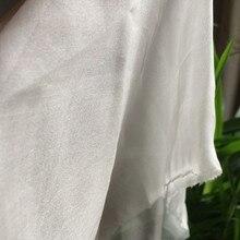 6 мм шелк шифон ткань шелк тутового шелкопряда 140 см 110 см ширина 26 gsm натуральный шелк белого цвета 100 метров мелкая