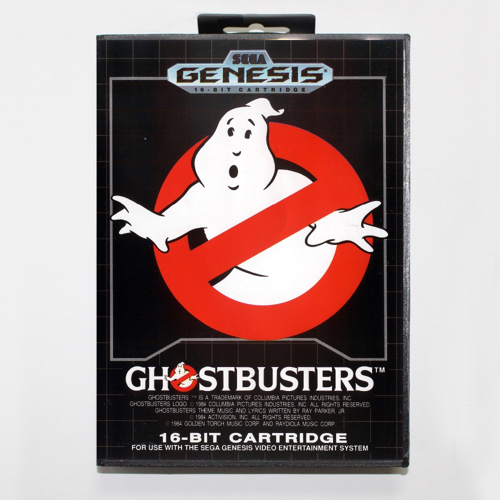 16 bit Sega MD game Cartridge with Retail box – Ghostbusters game card for Megadrive Genesis system
